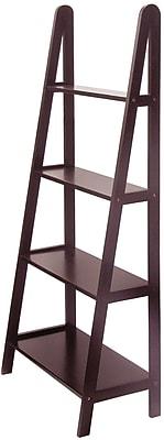 Winsome Beech Wood 4-Tier A-Frame Shelf, Dark Espresso