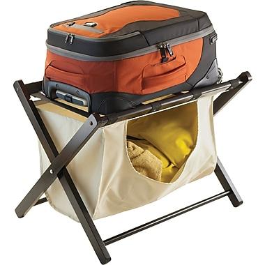 Winsome Dora Wood Foldadle Luggage Rack With Removable Fabric Basket, Espresso