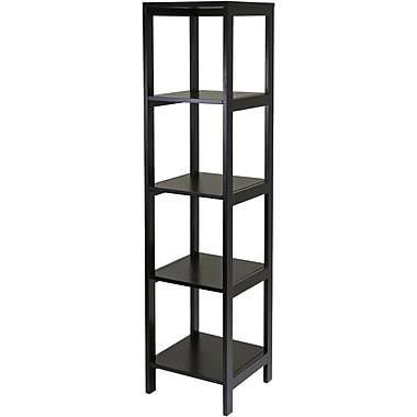 Winsome Hailey Wood 5 Tier Modular Tower Shelf, Dark Espresso
