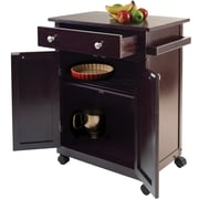 "Winsome Savannah 26.89"" Wood Kitchen Cart With 1-Drawer, Dark Espresso"