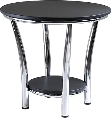 Winsome Trading Metal End Table, Black, Each (93219WTI)