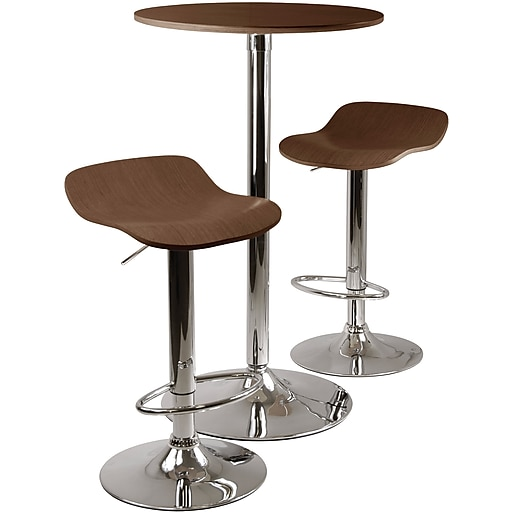 Remarkable Winsome Kallie 39 76 X 23 66 X 23 66 Wood Round Pub Tbl W 2 Air Lift Stool Cappuccino 3 Pieces Ibusinesslaw Wood Chair Design Ideas Ibusinesslaworg