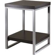 "Winsome Jared 24 1/2"" x 18"" x 18"" Composite Wood End Table/Printer Stand, Dark Espresso"