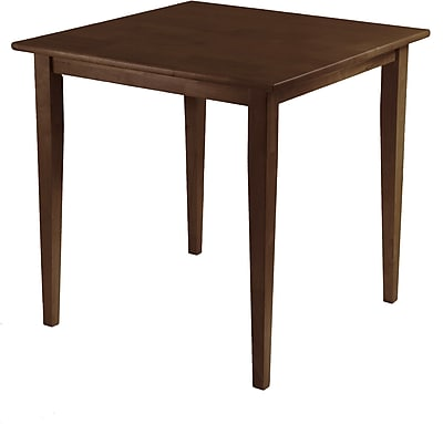 """""""""""Winsome Groveland 29.13"""""""""""""""" x 29.53"""""""""""""""" x 29.53"""""""""""""""" Wood Square Dining Table With Shaker Leg, Antique Walnut"""""""""""" 55779"""