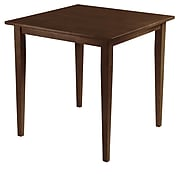 """Winsome Groveland 29.13"""" x 29.53"""" x 29.53"""" Wood Square Dining Table With Shaker Leg, Antique Walnut"""