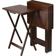 "Winsome 19"" TV Table, Brown, 4/Set (94419)"