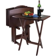 "Winsome 23.75"" TV Table , Brown, 5/Set (94517)"