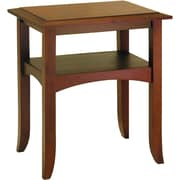 "Winsome Craftsman 25.9"" x 22.4"" x 17.3"" Pine Wood End Table, Brown"