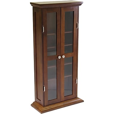 Winsome Wood DVD/CD Cabinet, Antique Walnut