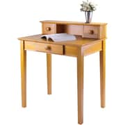 Winsome Studio Standard Writing Desk with Hutch, Honey (99333)