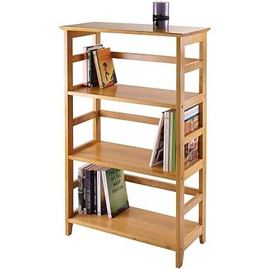 Winsome Solid/Composite Wood 3-Tier Studio Bookshelf, Honey