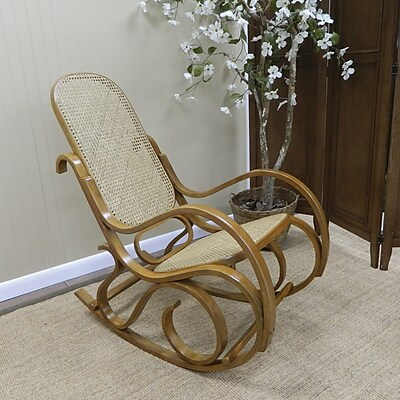 Carolina Cottage Victoria Bentwood Rocking Chair, Oak