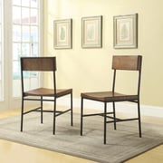 Carolina Cottage Berkshire Metal Dining Chair; Black/Chestnut