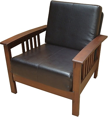 Carolina Cottage Montego Wood Prairie Chair, Black (323DMC)