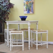 "Carolina Cottage 36"" x 36"" x 36"" Wood Berkshire Bar Table, Antique White"