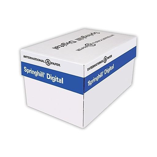 "Springhill® Opaque 65 lbs. Smooth Cover, 8 1/2"" x 11"", Case, 2500/Case"