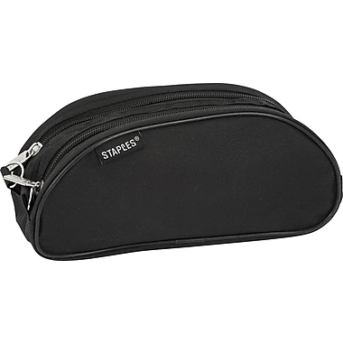 Staples® Nylon Dual Zipper Oblong Pouch