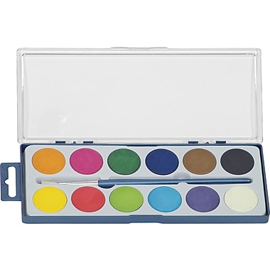Merangue 12 Colour Dry Cake Paint Set with Brush
