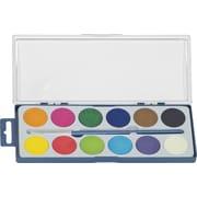 Merangue - Ensemble de peinture à 12 pastilles sèches de couleur avec pinceau