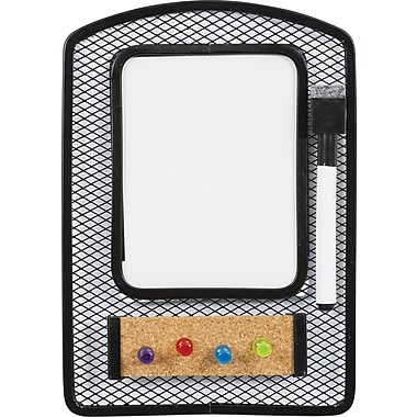 Staples® Magnetic Mesh Locker Whiteboard with Corkboard