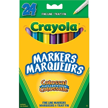 Crayola® Fine Line Markers, 24/Pack