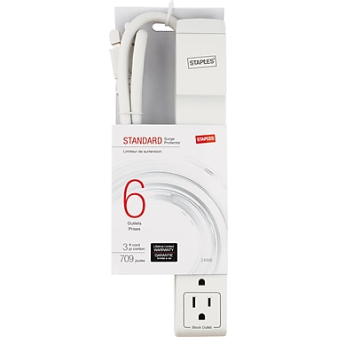 Staples 6 Outlet 709 Joule Surge Protector