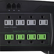 Staples 12-Outlet 4350 Joule EcoEasy Surge Protector with Dataline Protection