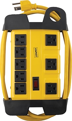 Staples 8-Outlet 1800 Joule Industrial Surge Protector