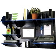Wall Control Desk and Office Craft Center Organizer Kit, Black/Blue