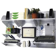Wall Control Desk and Office Craft Center Organizer Kit, Galvanized Tool Board and White Accessories