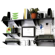 Wall Control Desk and Office Craft Center Organizer Kit, White Tool Board and Black Accessories