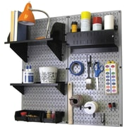 Wall Control Craft Center Pegboard Organizer Kit, Gray Tool Board and Black Accessories