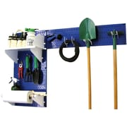 Wall Control Garden Tool Storage Organizer Pegboard Kit, Blue Tool Board and White Accessories