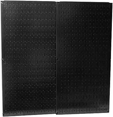Wall Control Combo Metal Pegboard Panel, Black, 2/Pack