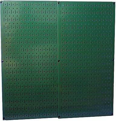 Wall Control Combo Metal Pegboard Panel, Green, 2/Pack