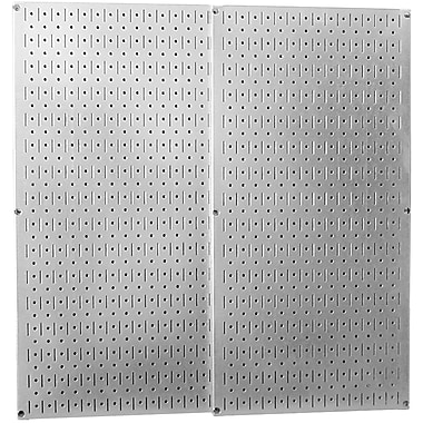 Wall Control Combo Metal Pegboard Panel, Galvanized, 2/Pack