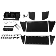 Wall Control Slotted Tool Board Workstation Accessory Kit, Black