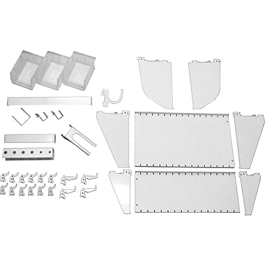 Wall Control Slotted Tool Board Workstation Accessory Kit, White
