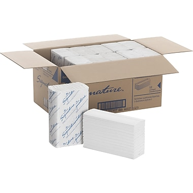 Signature 2-Ply Premium C-Fold Paper Towels, White, 1,440/Case