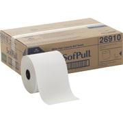 "Georgia-Pacific® SofPull® 100 Percent Recycled Fiber Hardwound Roll Paper Towel, White, 7.09"" x 1,000', 6/Ct"