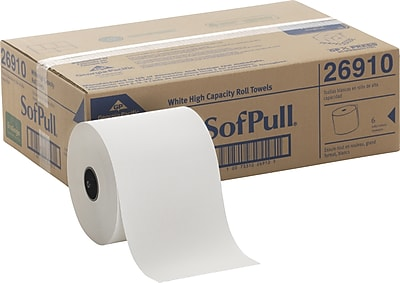 SofPull® Recycled Fiber Hardwound Roll Paper Towel by GP PRO, White, 1000' Per Roll, 6 Rolls/Pack (26910)