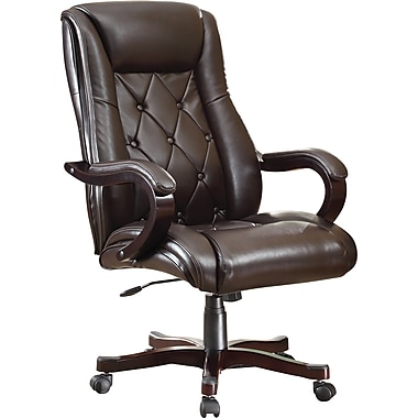 Inspired by Bassett Chapman Executive Chair, Espresso Eco leather