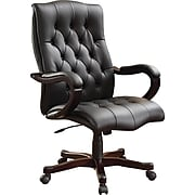 Inspired by Bassett Dixon Executive Chair, Black Eco Leather