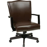 Inspired by Bassett Morgan Manager's Chair, Espresso Eco Leather