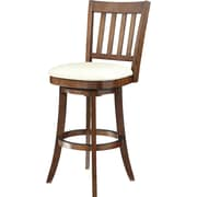 "Inspired by Bassett Mission 30"" Seat Height Barstool, Cream Eco Leather"