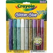 Crayola Washable Glitter Glue, Fiery Flecks, 9/Per Pack (69-3527)