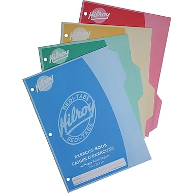 Hilroy Redi-Tabs Exercise Book, 3 Hole, 10-7/8
