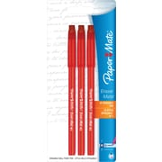 Papermate® EraserMate Red Ball Point Stick Pens, 1.0mm Medium, 3/Pack