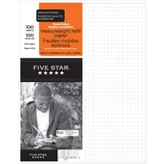 "Five Star® Refill Paper, Quad 4:1"" Heavyweight, 10-7/8"" x 8-3/8"", 100 Sheets"
