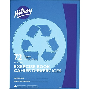 Hilroy Exercise Book Plain Recycled, 9-1/8